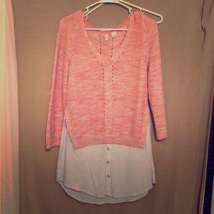 Anthro sweater shirt tunic NWOT